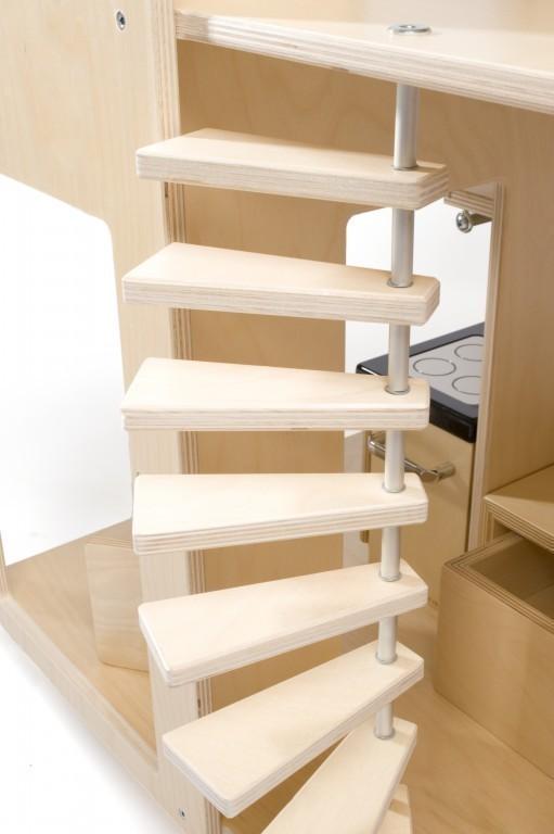 liliane leading puppenvilla ohne inneneinrichtung exklusives puppenhaus holz neu. Black Bedroom Furniture Sets. Home Design Ideas
