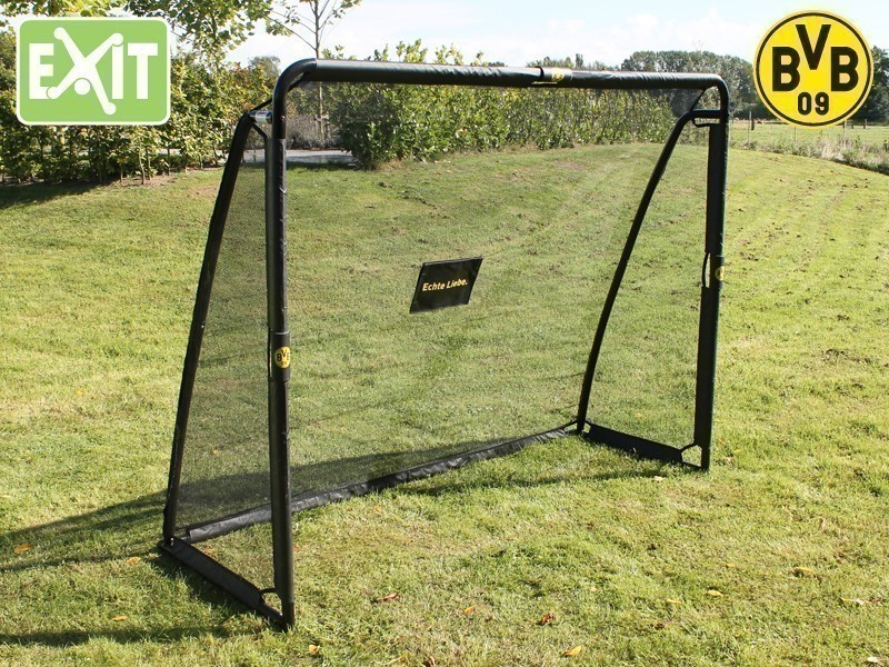exit coppa borussia dortmund 41054100 bvb 09 fu ball tor torwand soccer goal ebay. Black Bedroom Furniture Sets. Home Design Ideas