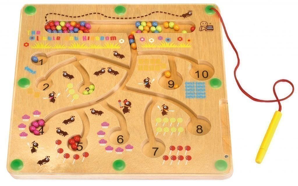 magnetspiel ameisen tischspiel holz magnetstift metallkugeln geduldsspiel neu ebay. Black Bedroom Furniture Sets. Home Design Ideas