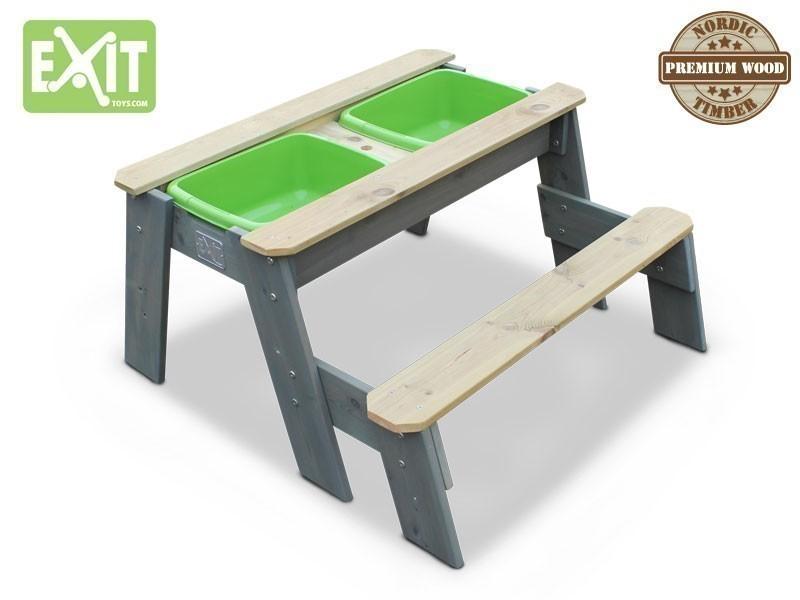 exit aksent sandtisch wassertisch picknicktisch 1 bank. Black Bedroom Furniture Sets. Home Design Ideas