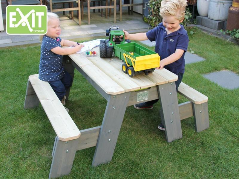 exit aksent sandtisch wassertisch picknicktisch 2 b nke. Black Bedroom Furniture Sets. Home Design Ideas