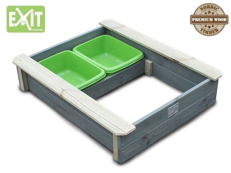 exit aksent sandkasten holz 2 gr ne becken 94x77x20 cm sandkiste sandbox neu ebay. Black Bedroom Furniture Sets. Home Design Ideas