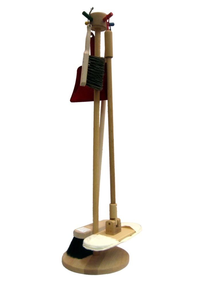 putzzubeh r putzst nder holz besen mob handfeger kehrschaufel rollenspiel putzen ebay. Black Bedroom Furniture Sets. Home Design Ideas
