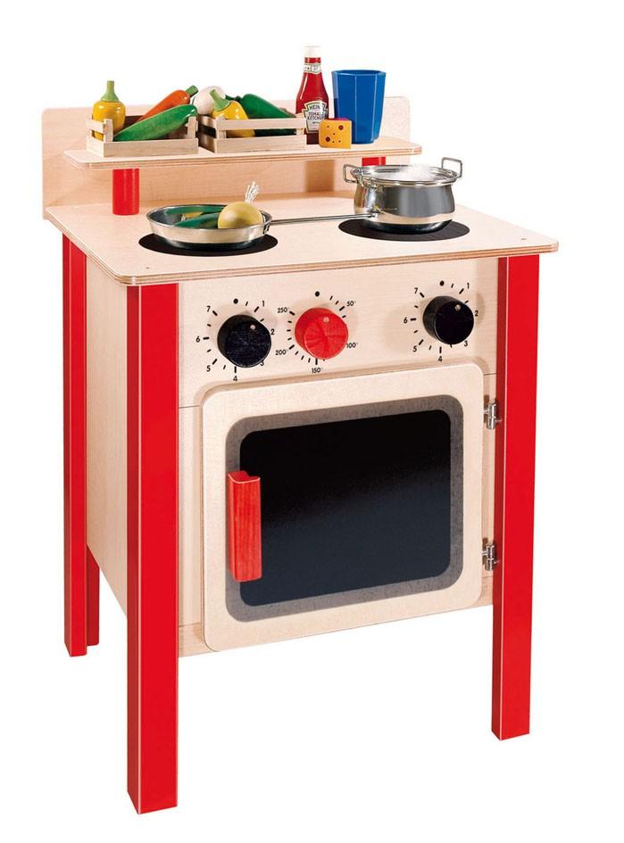Gro er kinderherd holz made in germany spielen kochen for Kochen ohne herd