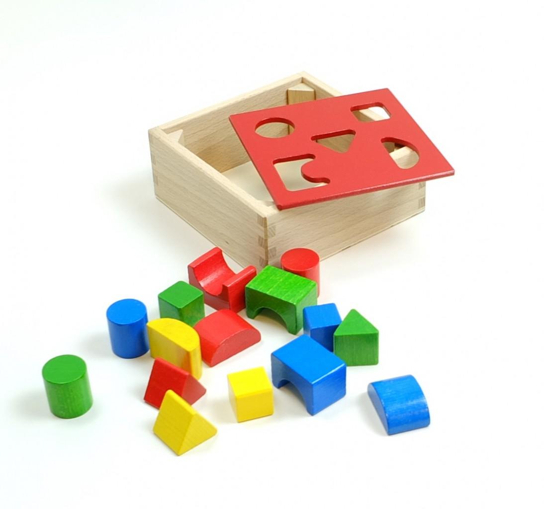 puzzle box sortierbox mit deckel f r geometrische formen material holz ma e 16 5 x 16 5. Black Bedroom Furniture Sets. Home Design Ideas