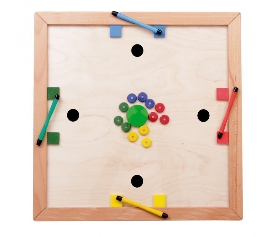 tischspiel magnet kick fu ballspiel aus holz f r 1 4. Black Bedroom Furniture Sets. Home Design Ideas