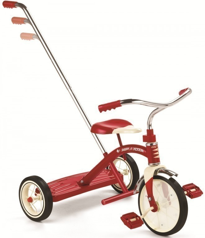 radio flyer dreirad classic red 10 tricycle mit schubstange 435 belastbarkeit 19 kg. Black Bedroom Furniture Sets. Home Design Ideas