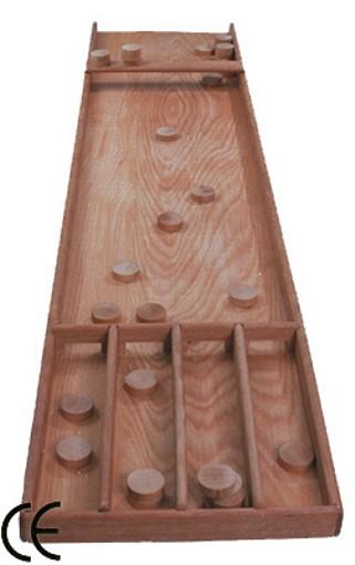 shuffleboard sjoelbakken billards hollandais holl ndisches brettspiel inkl 30 holzscheiben. Black Bedroom Furniture Sets. Home Design Ideas