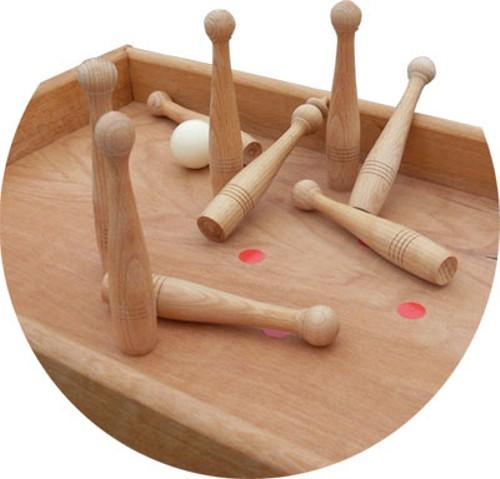 Tischkegelbahn Holz
