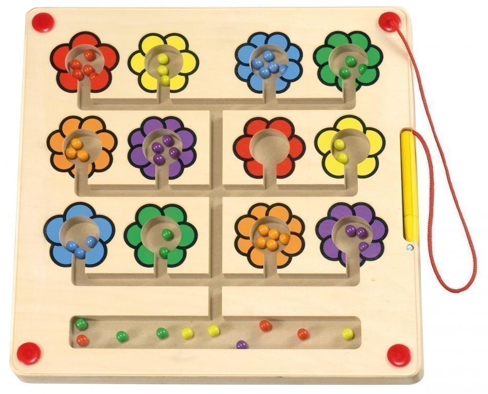 magnetspiel blumen tischspiel aus holz inkl magnetstift metallkugeln plexiglasabdeckung. Black Bedroom Furniture Sets. Home Design Ideas