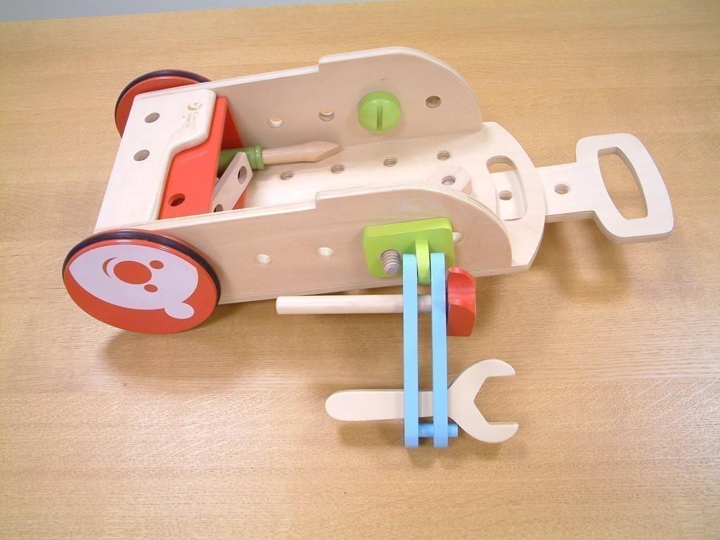 werkzeugwagen inkl zubeh r aus holz kann als werkzeug trolly oder als werkzeug bank. Black Bedroom Furniture Sets. Home Design Ideas