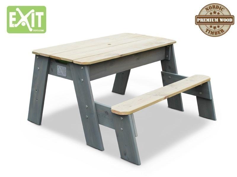 exit aksent sand wasser und picknicktisch 1 bank inkl zwei kunststoffbecken material. Black Bedroom Furniture Sets. Home Design Ideas