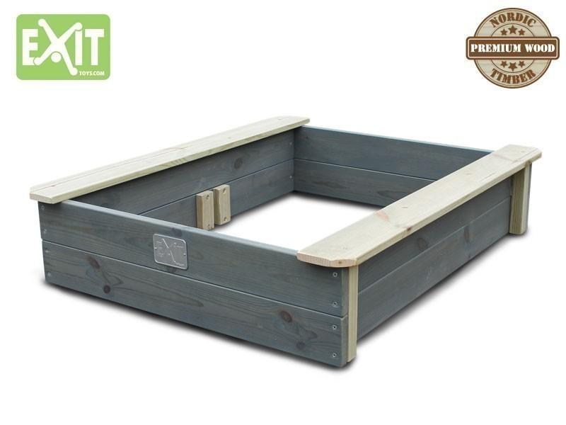 exit aksent sandkasten mit deckel inkl zwei kunststoffbecken material nordisches. Black Bedroom Furniture Sets. Home Design Ideas