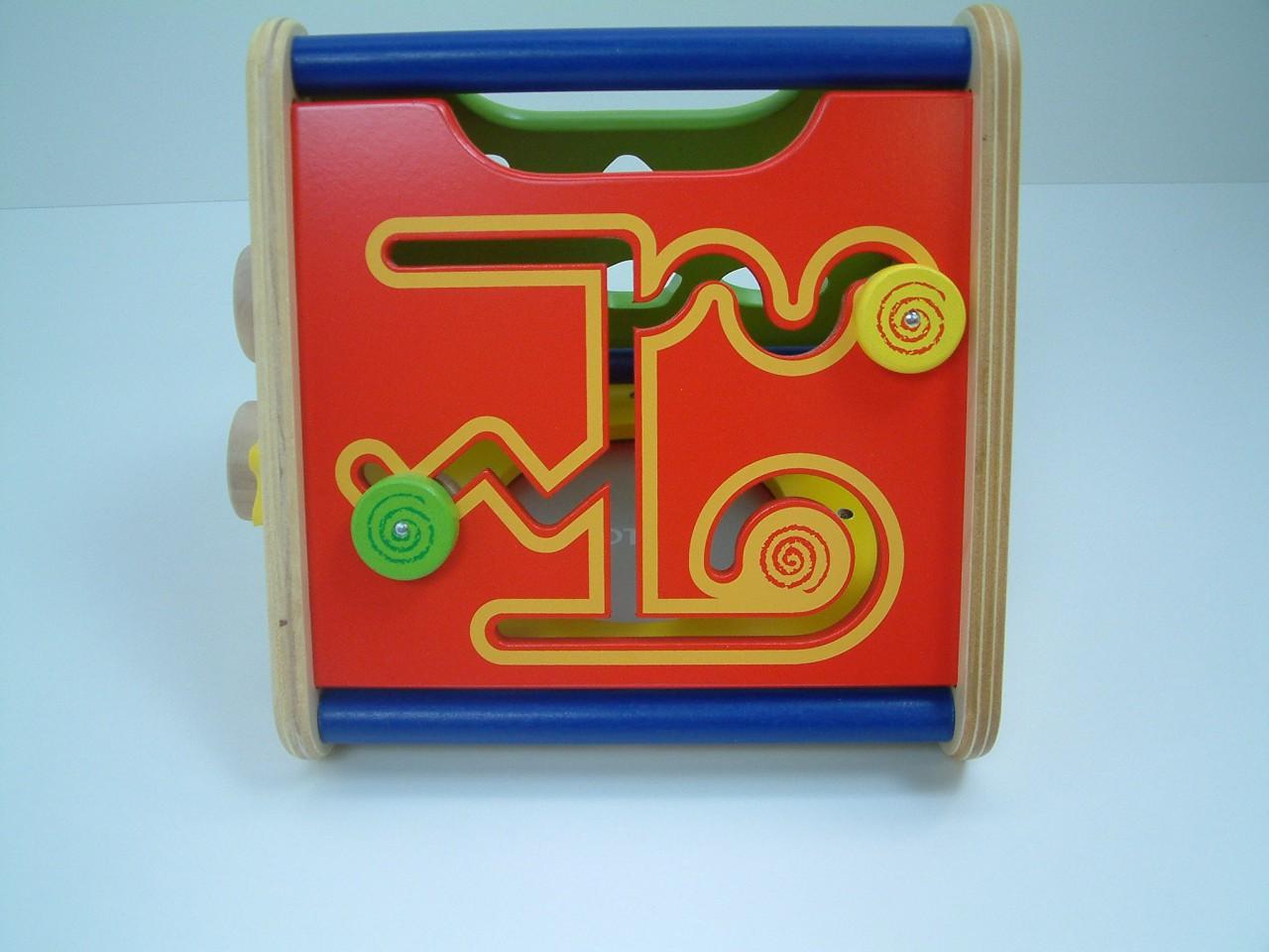 activity korb tragbares motorikspielzeug aus holz drehen schieben sortieren trommeln. Black Bedroom Furniture Sets. Home Design Ideas