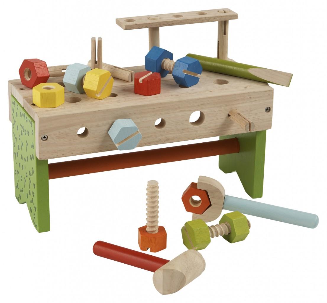 Werkzeugkasten mit Zubehör / 23-teilige Tischwerkbank aus ...